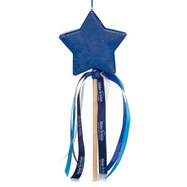 Λαμπάδα Μπλε Αστέρι-Επιτραπέζιο Κερί