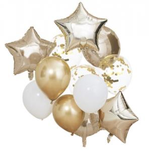 Μπαλόνια χρυσά -  σετ 10 τμχ