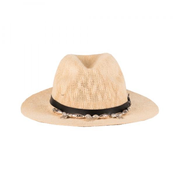 Ψάθινο Μπεζ Καπέλο - Boho