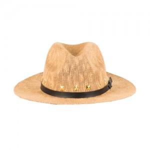 Ψάθινο Ταμπά Καπέλο - Χρυσά Τρουκς