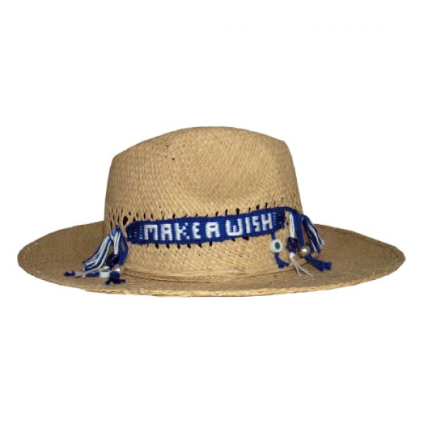 Ψάθινο Μπεζ Καπέλο - Make A Wish