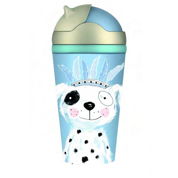 Bottle Moses Παγουρίνο γαλάζιο σκυλάκι