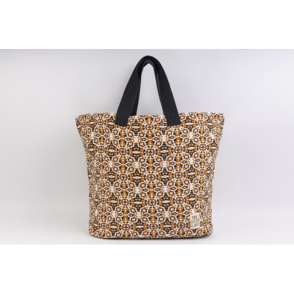 MARRON-BEACH BAG