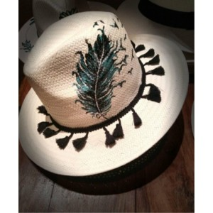 Ψαθινο Καπέλο φτερό