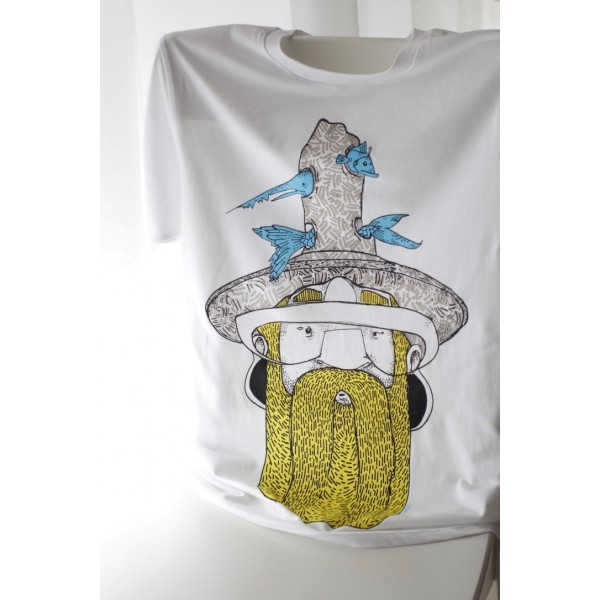 Man in the hat T-shirt
