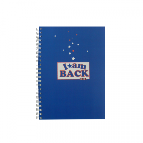 Spiral Notebook A4  - I am back to school